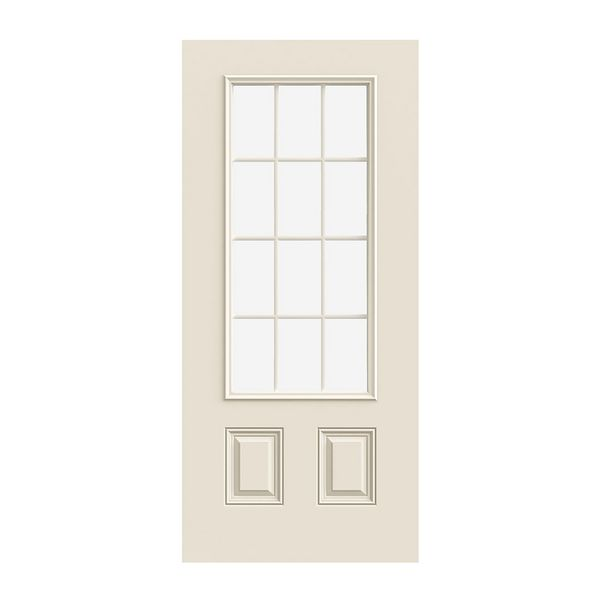 Prehung Exterior Smooth-Pro 2-Panel 12-Lite Door