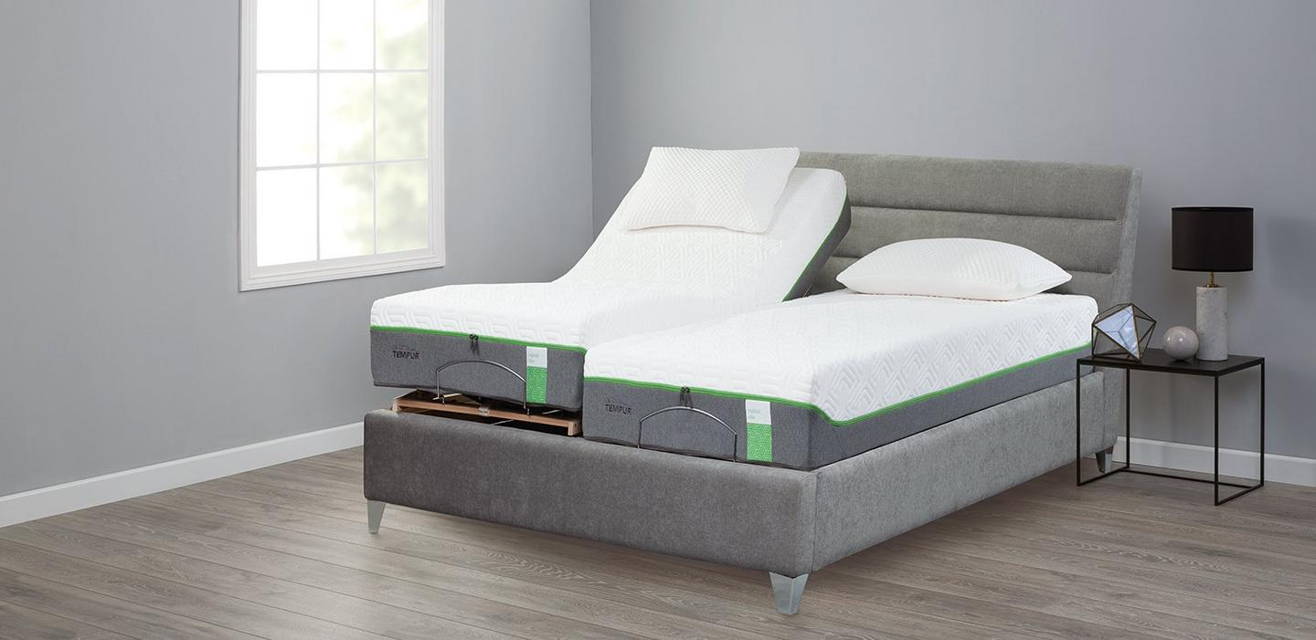 Tempur bed frame base upholstered