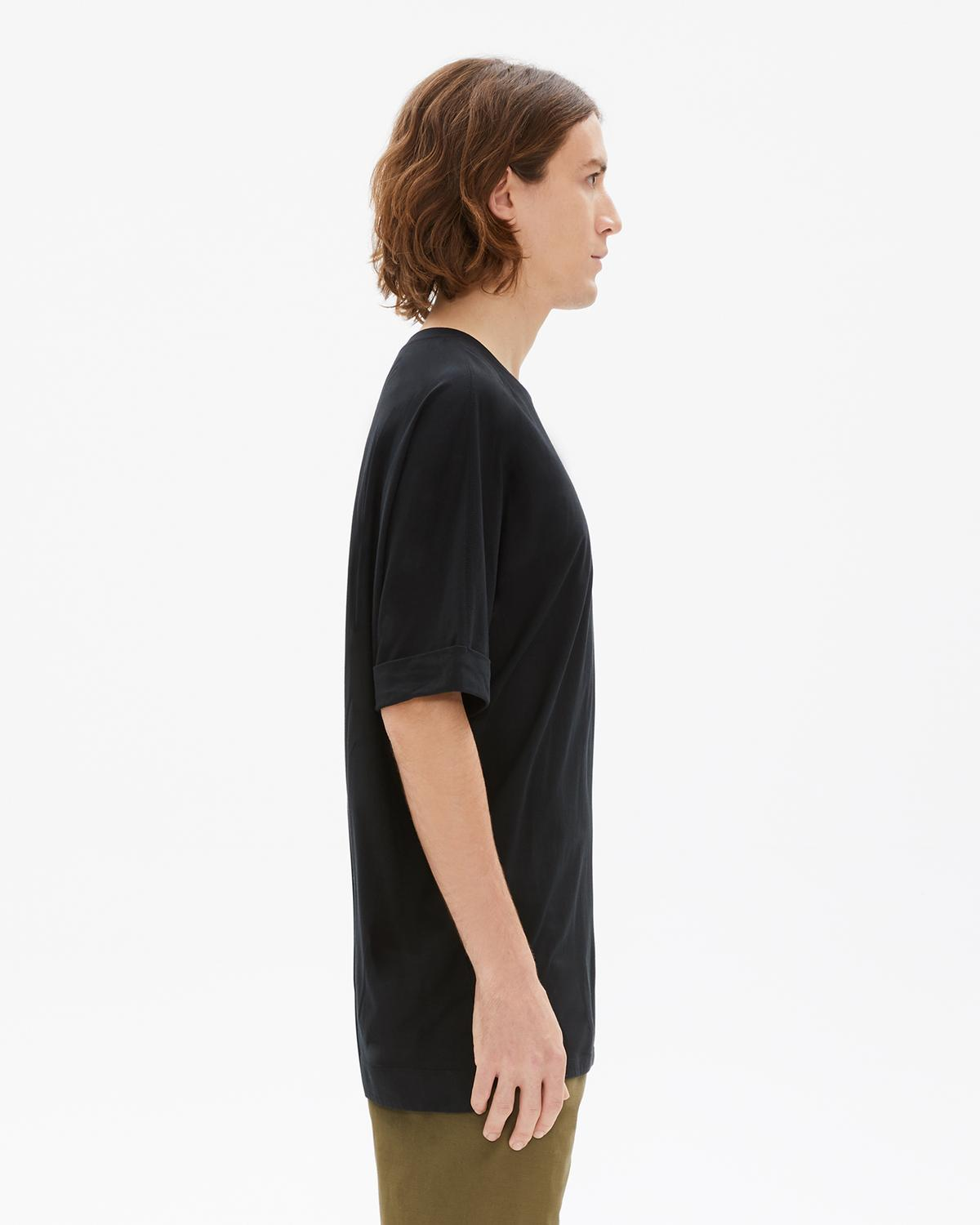 Black Oversized Uni Sleeve Tee