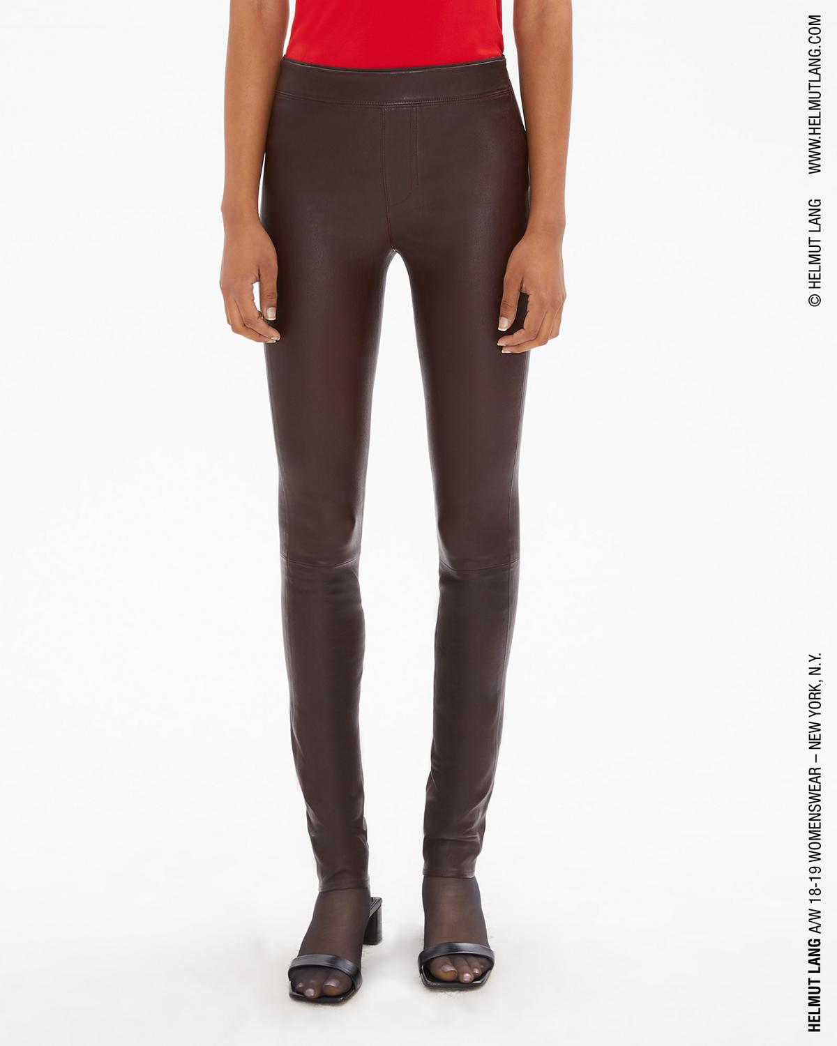 d3e641d97c534a Helmut Lang Women's Leather Leggings in Wine | WWW.HELMUTLANG.COM