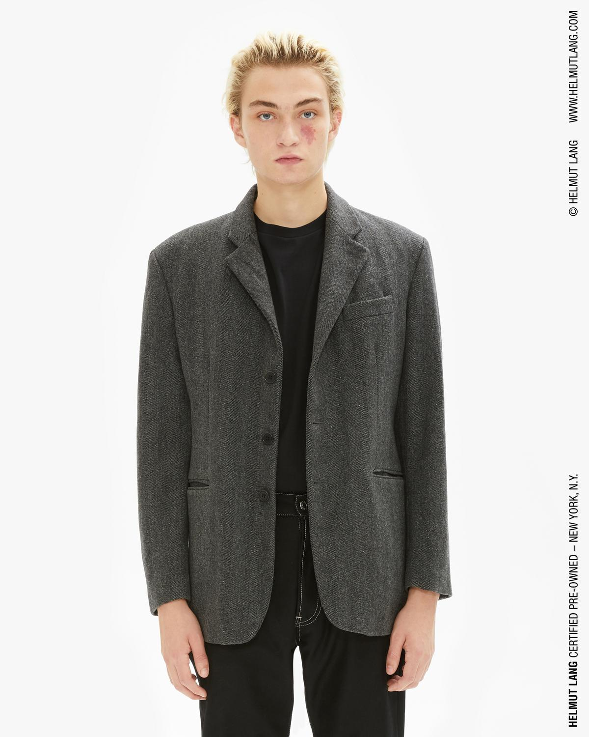 Helmut Lang Grey 3 Button Classic Jacket  ca5886ad0