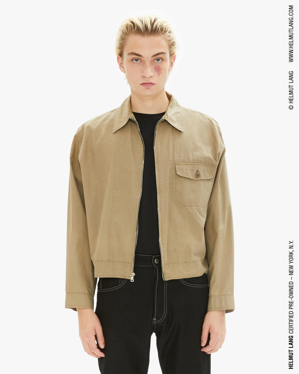 Zip Blouson with patch pocket