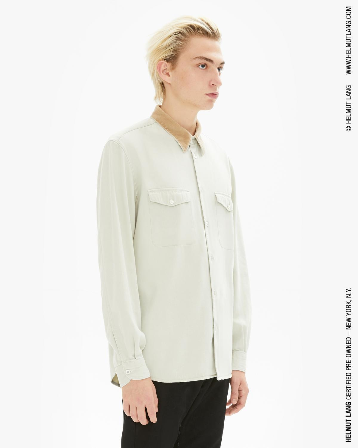 Workwear Shirt with Velvet Collar