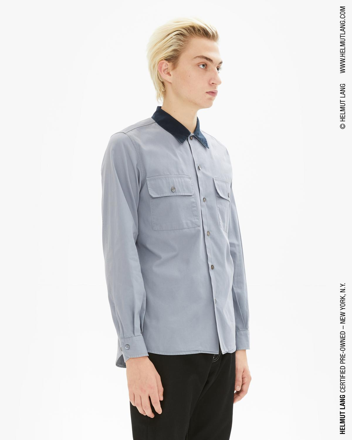 Workwear Shirt with Contast Collar
