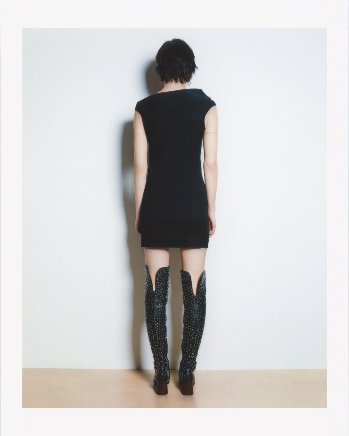 ASYMMETRIC MINI DRESS