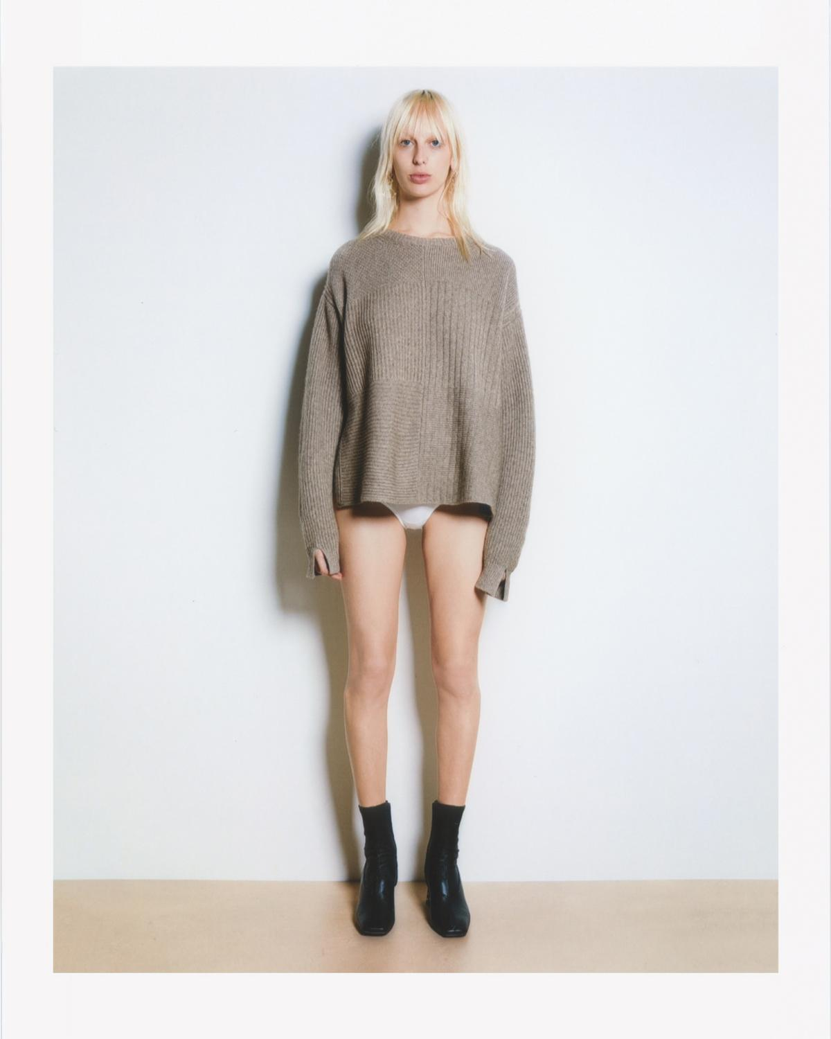 TEXTURED CASHMERE PULLOVER
