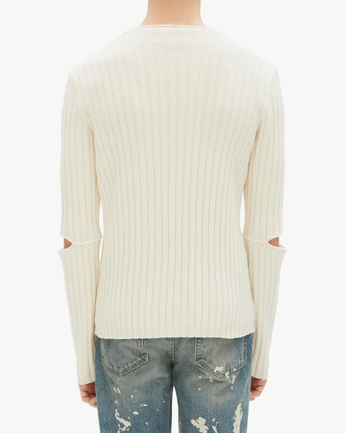 Slashed Elbow Sweater