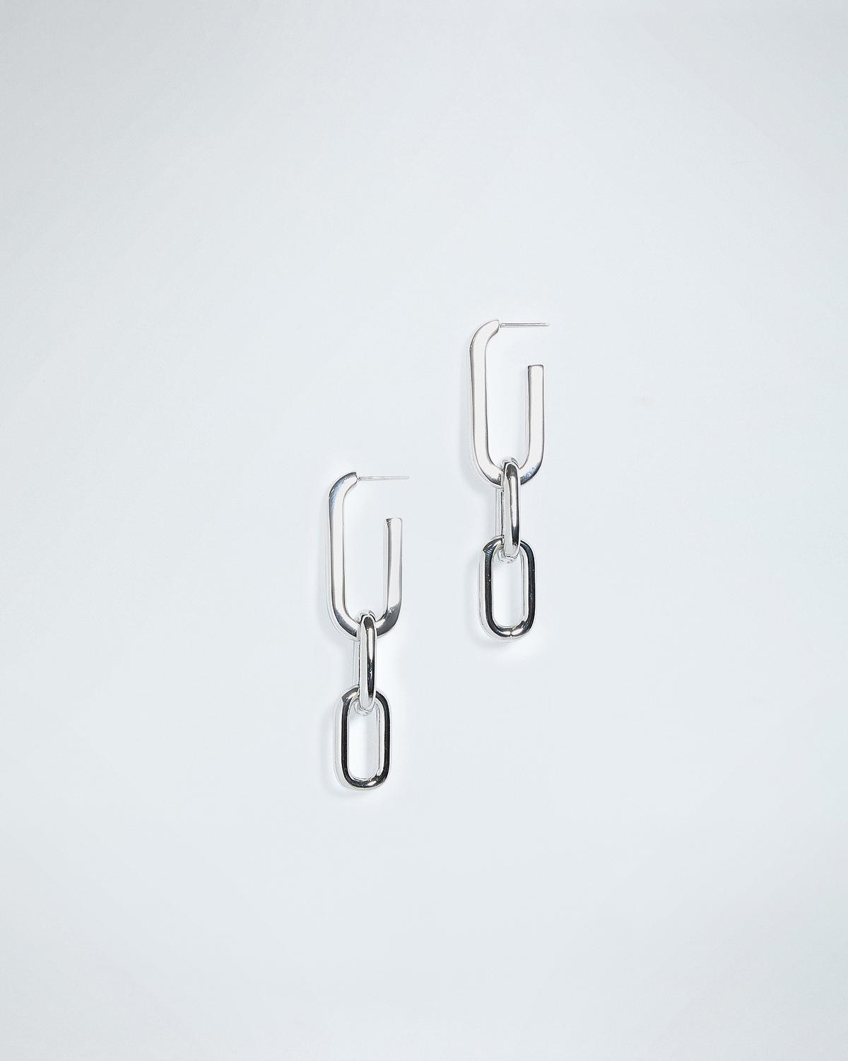 DROP LINK EARRINGS