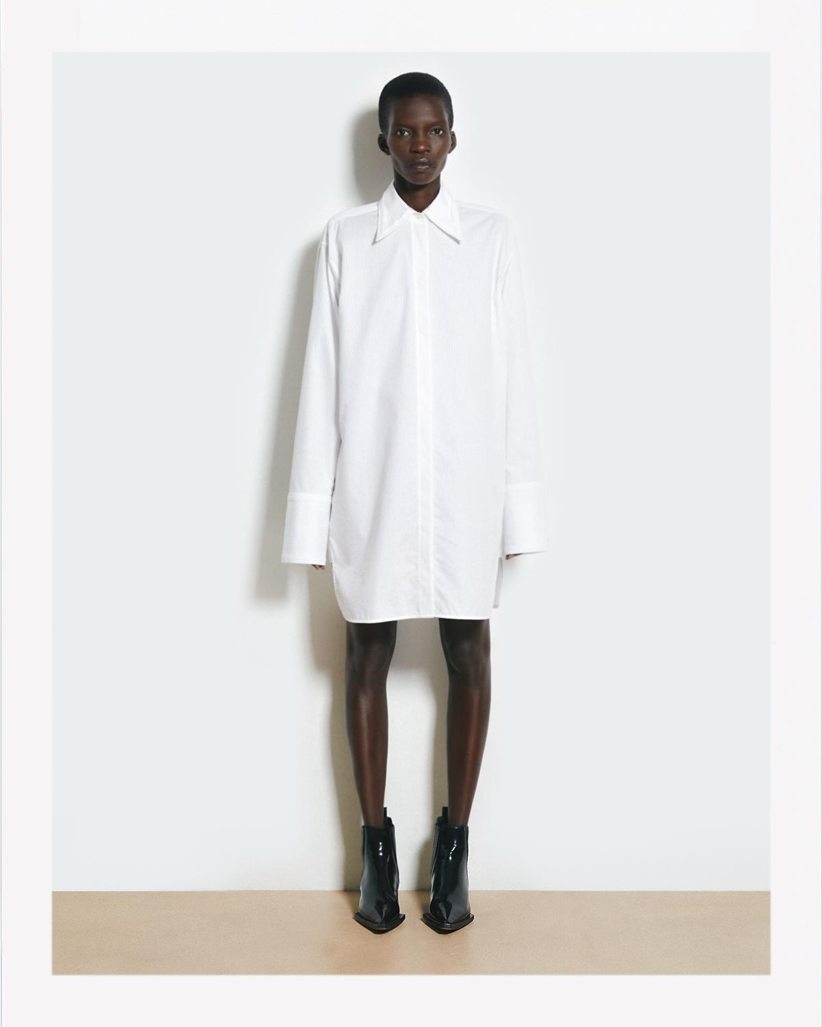 Helmut Lang Oversized Shirt Dress Official Site