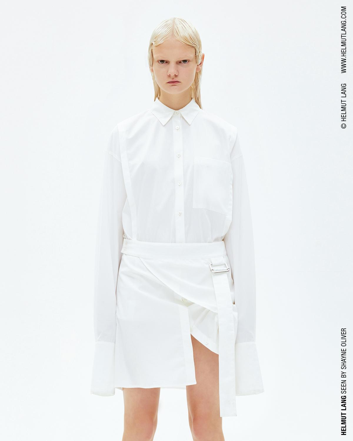 Helmut Lang Pulled Up Shirtdress Official Site