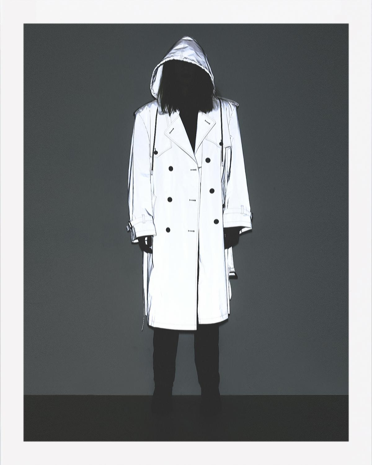 3MZ HOODED TRENCH