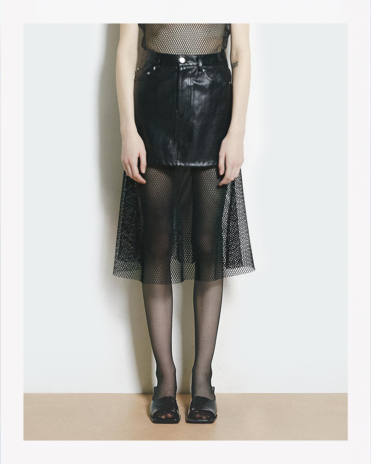 5 POCKET LEATHER SKIRT
