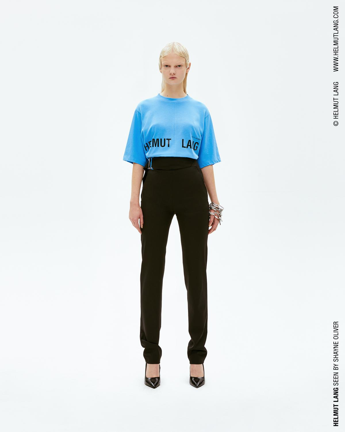 Helmut lang campaign print t shirt official site for On site t shirt printing