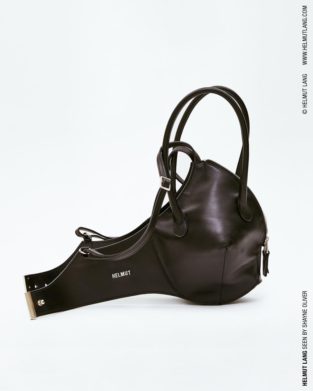 Bra Purse in Black Leather Helmut Lang PBappPQi3