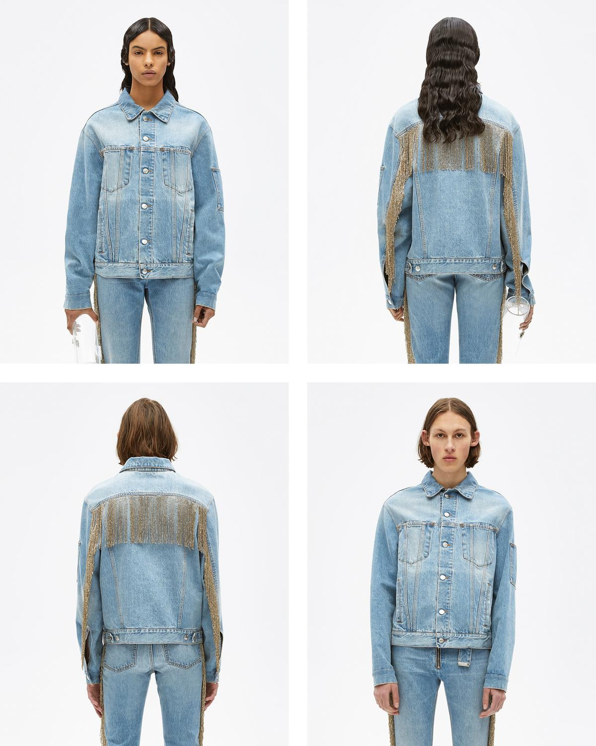 FRINGED JEAN JACKET