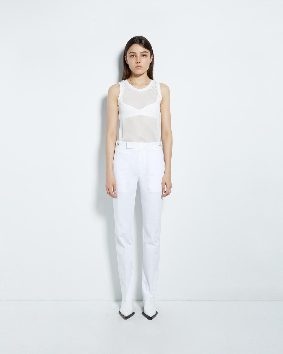 STRAIGHT LEG COTTON PANT