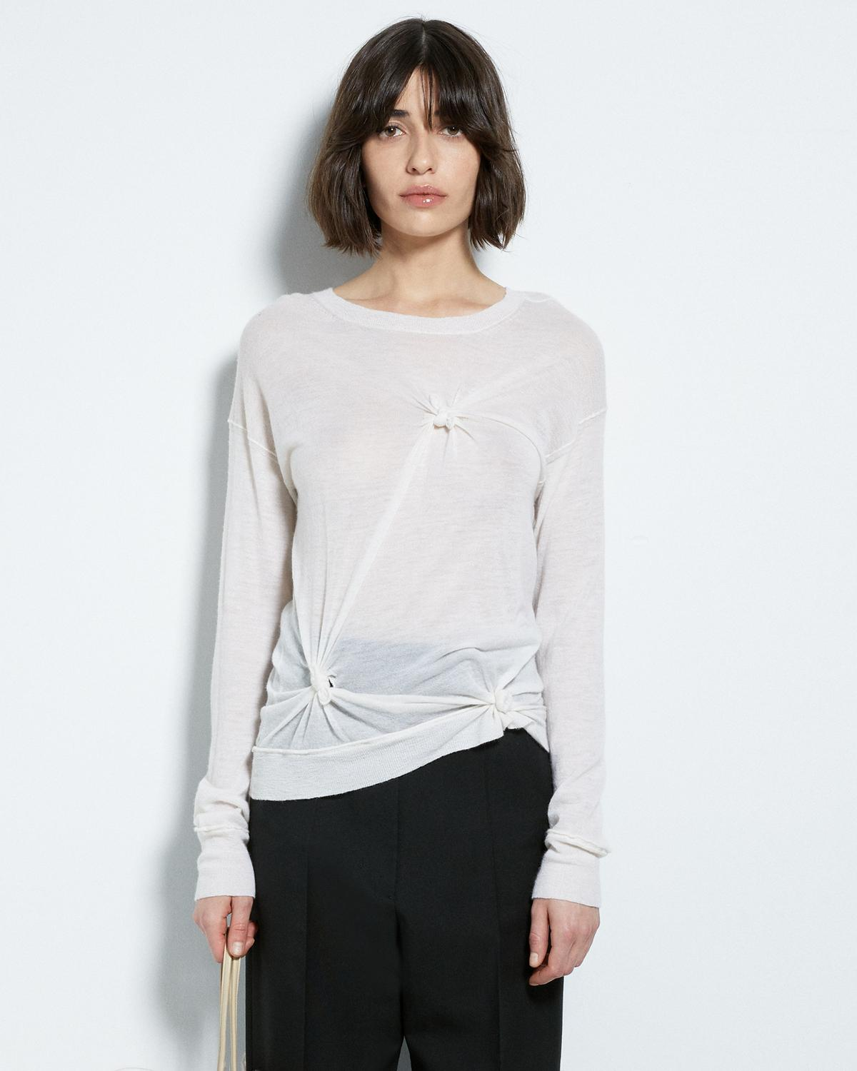CASHMERE KNOTTED CREWNECK