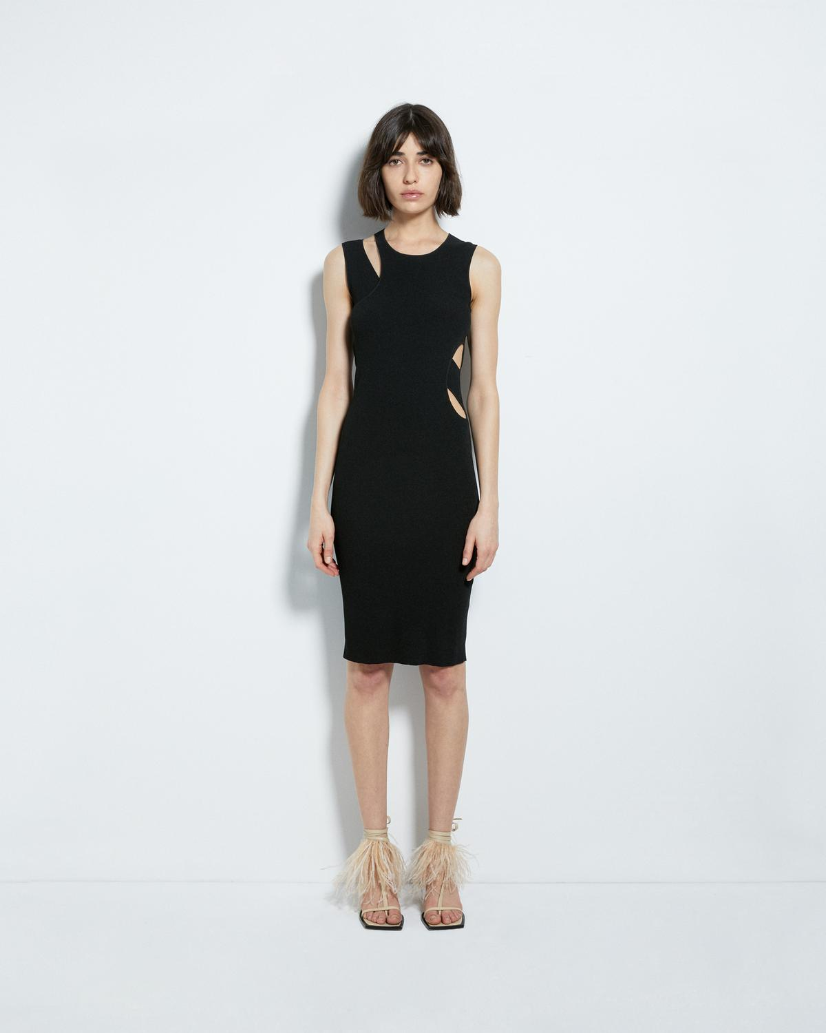 LAYERED SLASH TANK DRESS