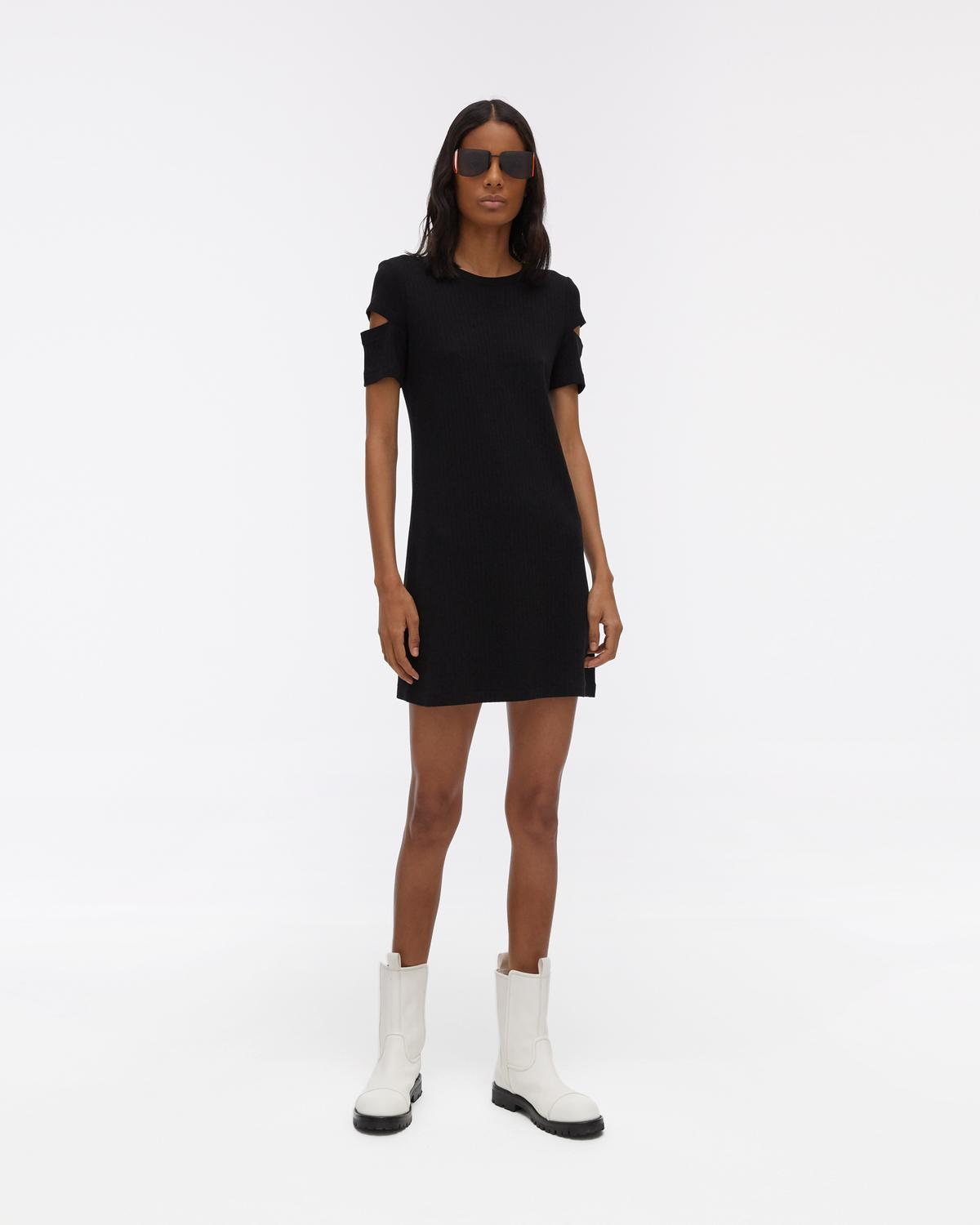 Slash Sleeve Shirtdress