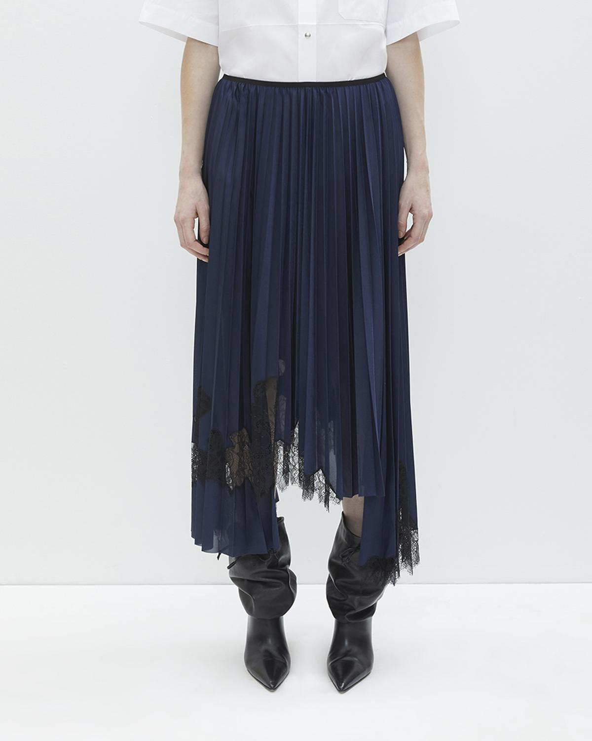 Pleated Tricot Skirt
