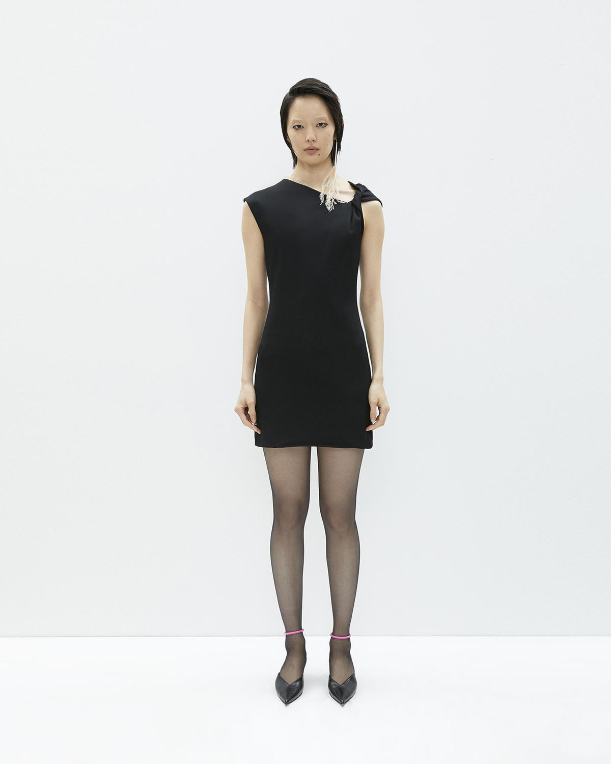 Helmut Lang Black Twist Tank Dress  b53aef1e8