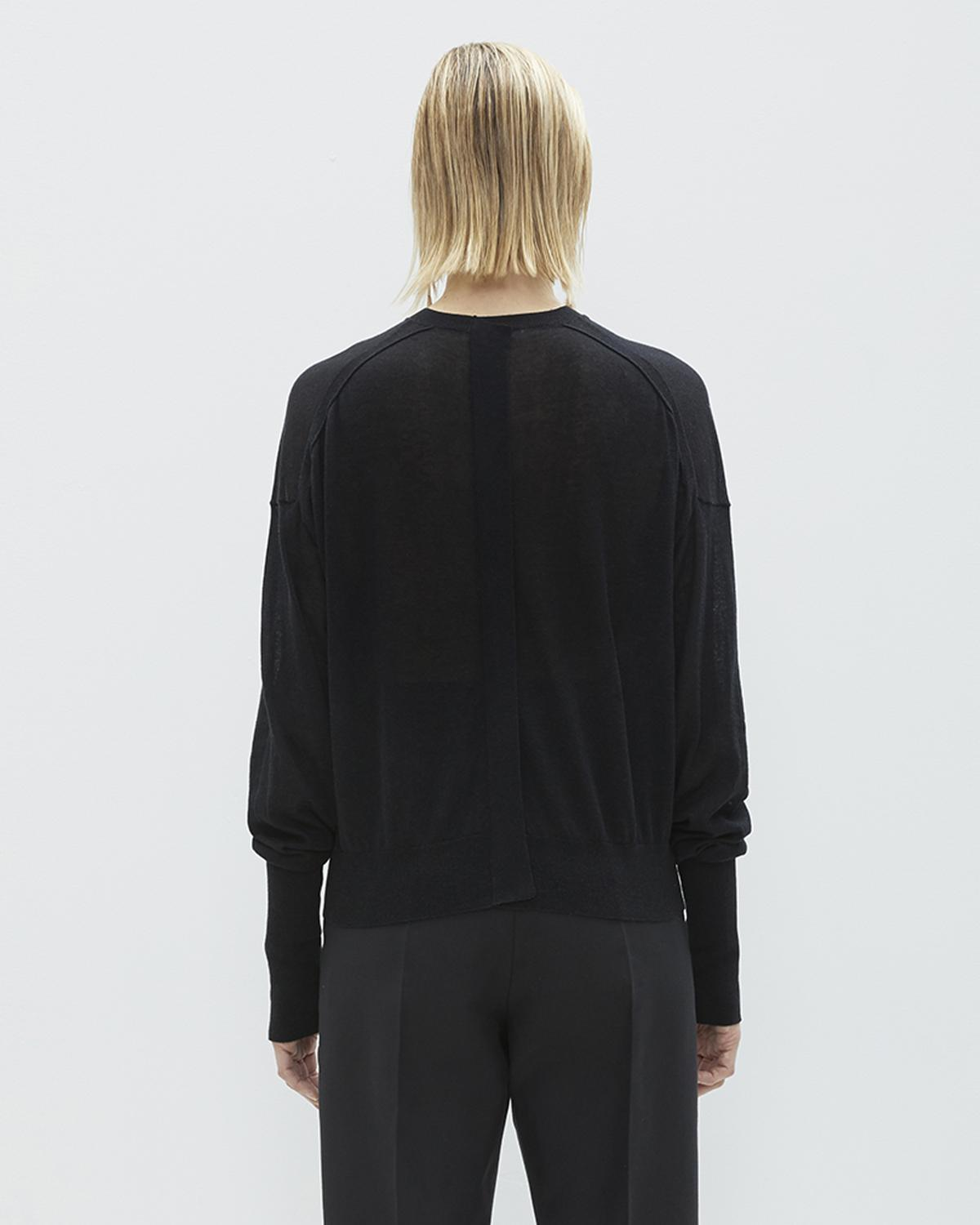 FOLDED SHEER CREWNECK