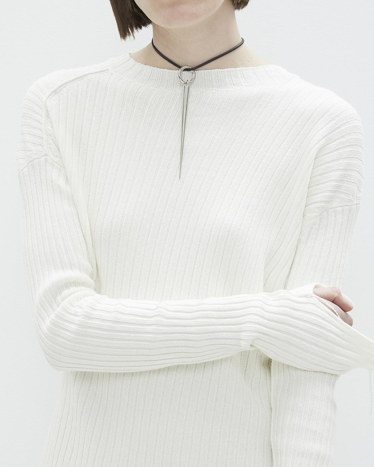 Twisted Crew Neck Sweater