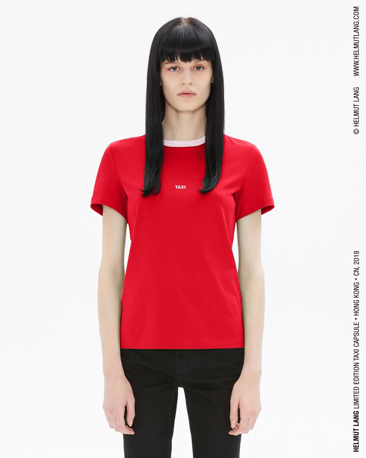Helmut Lang Hong Kong Taxi Tee - Red/Silver/Grey Outlet Order Online Cheap With Paypal Cheap Sale Shop For Outlet Where To Buy cJ9xeE5o