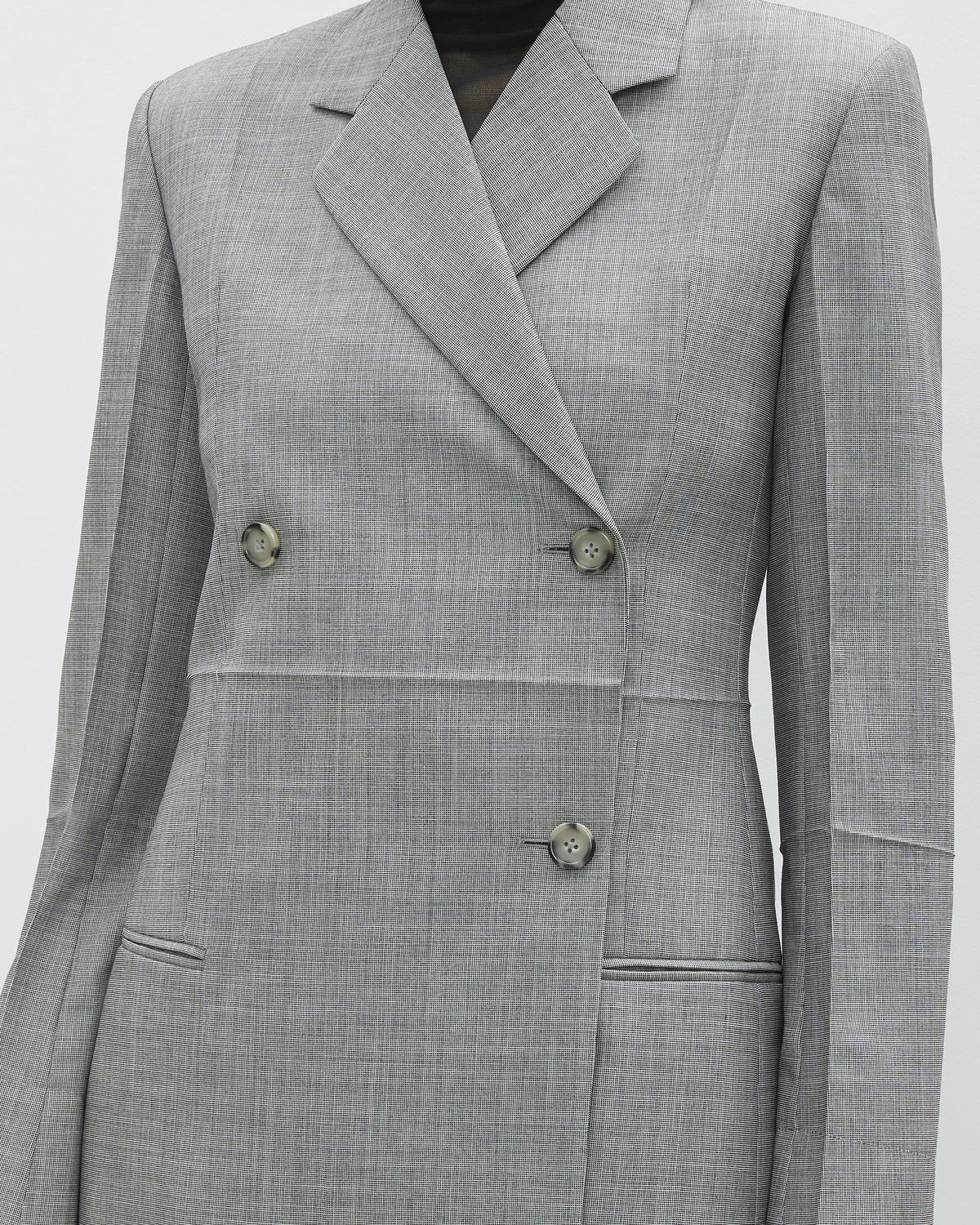 DOUBLE BREASTED MOHAIR WOOL BLAZER