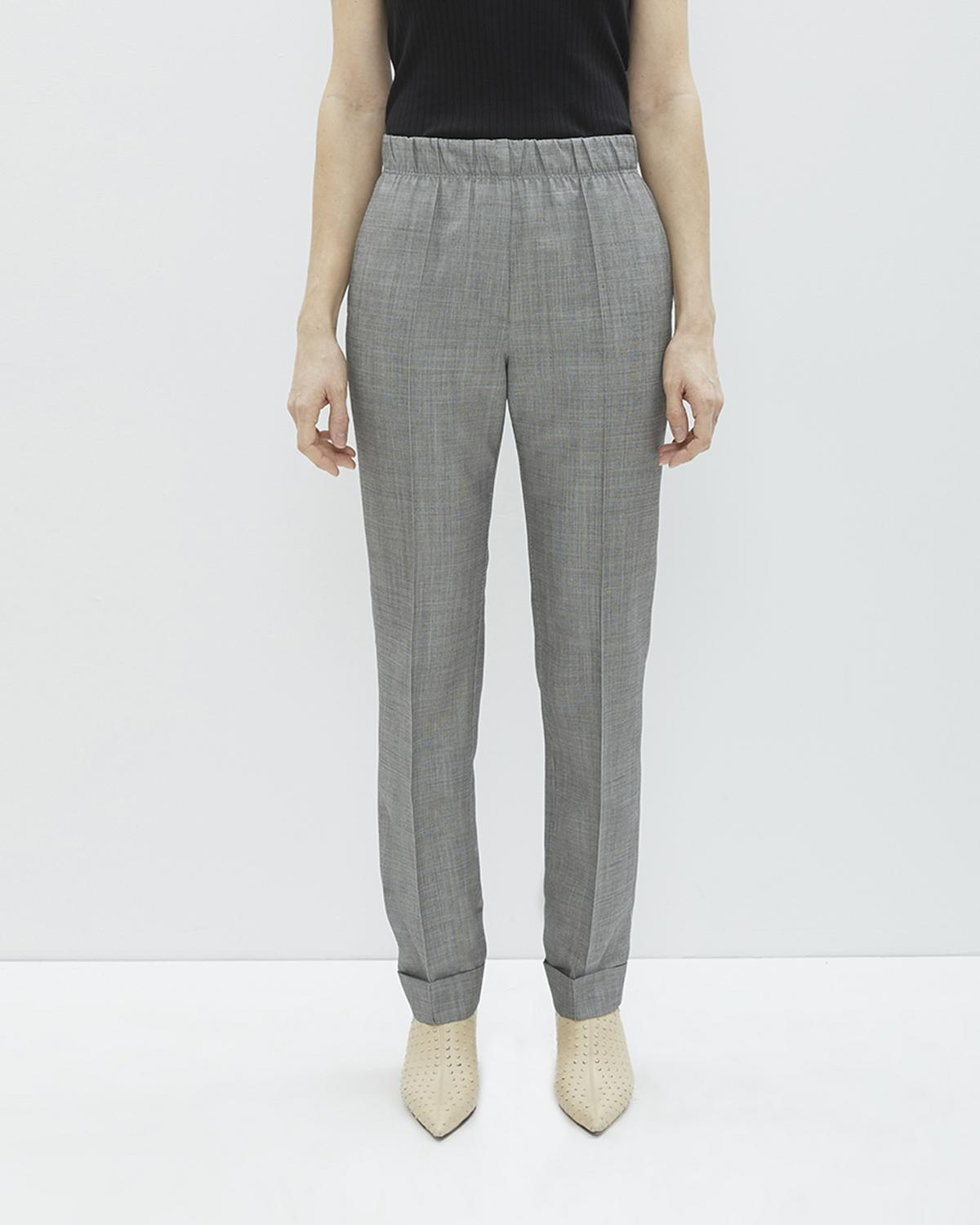 PULL ON WOOL SUIT PANT