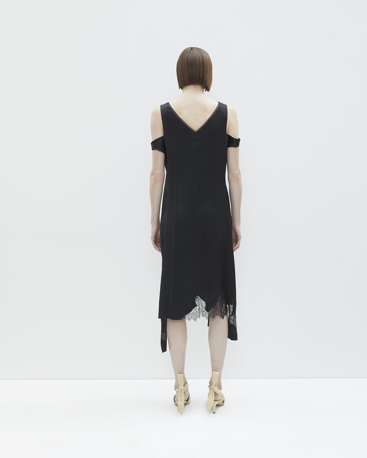DECONSTRUCTED SLIP DRESS