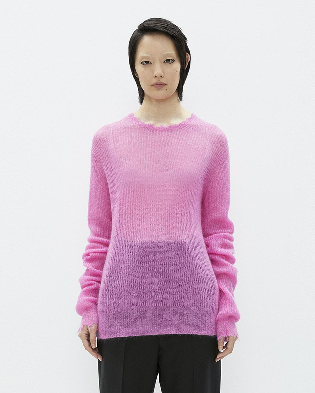 Pink Feather Weight Mohair Crewneck Sweater Helmut Lang Discount Manchester Great Sale Factory Outlet Sale Online Recommend ZHRO22BD8