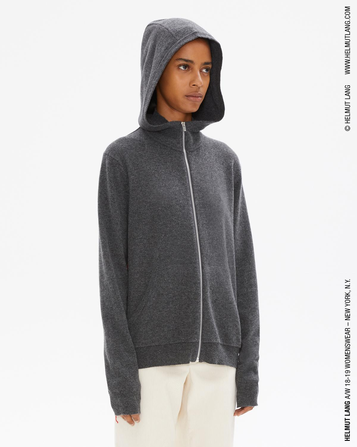 CASHMERE LONG SLEEVE HOODIE AURORA