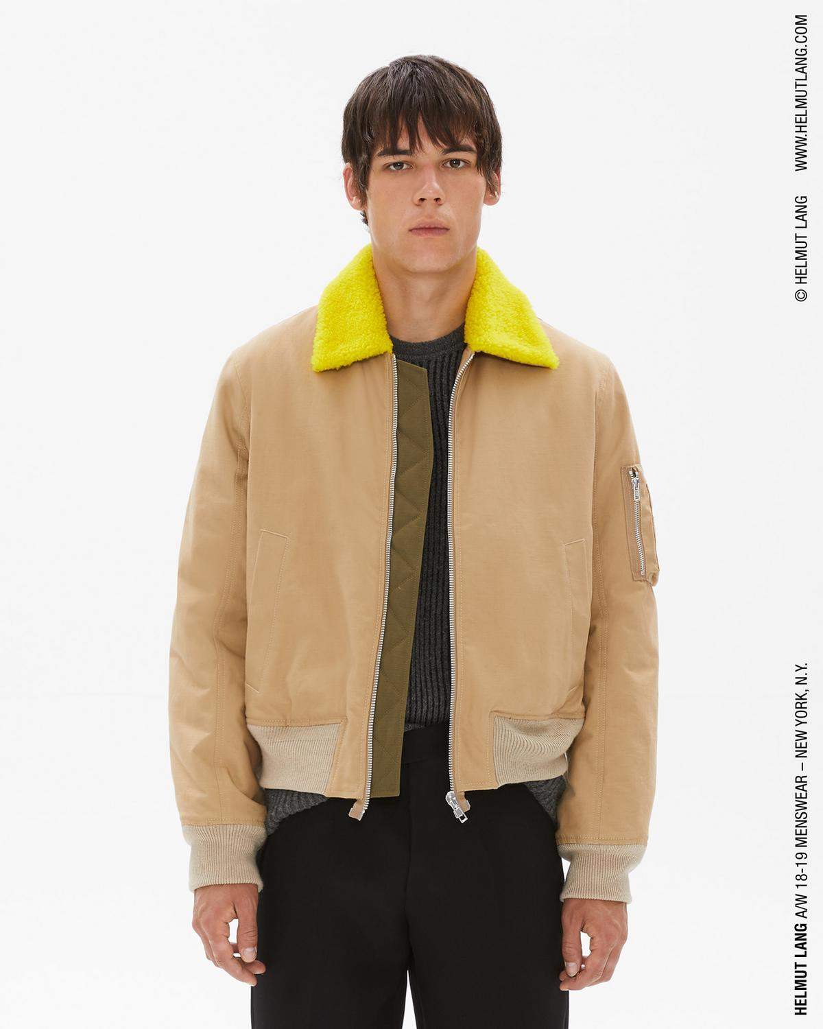 SHEARLING COLLAR BOMBER JACKET