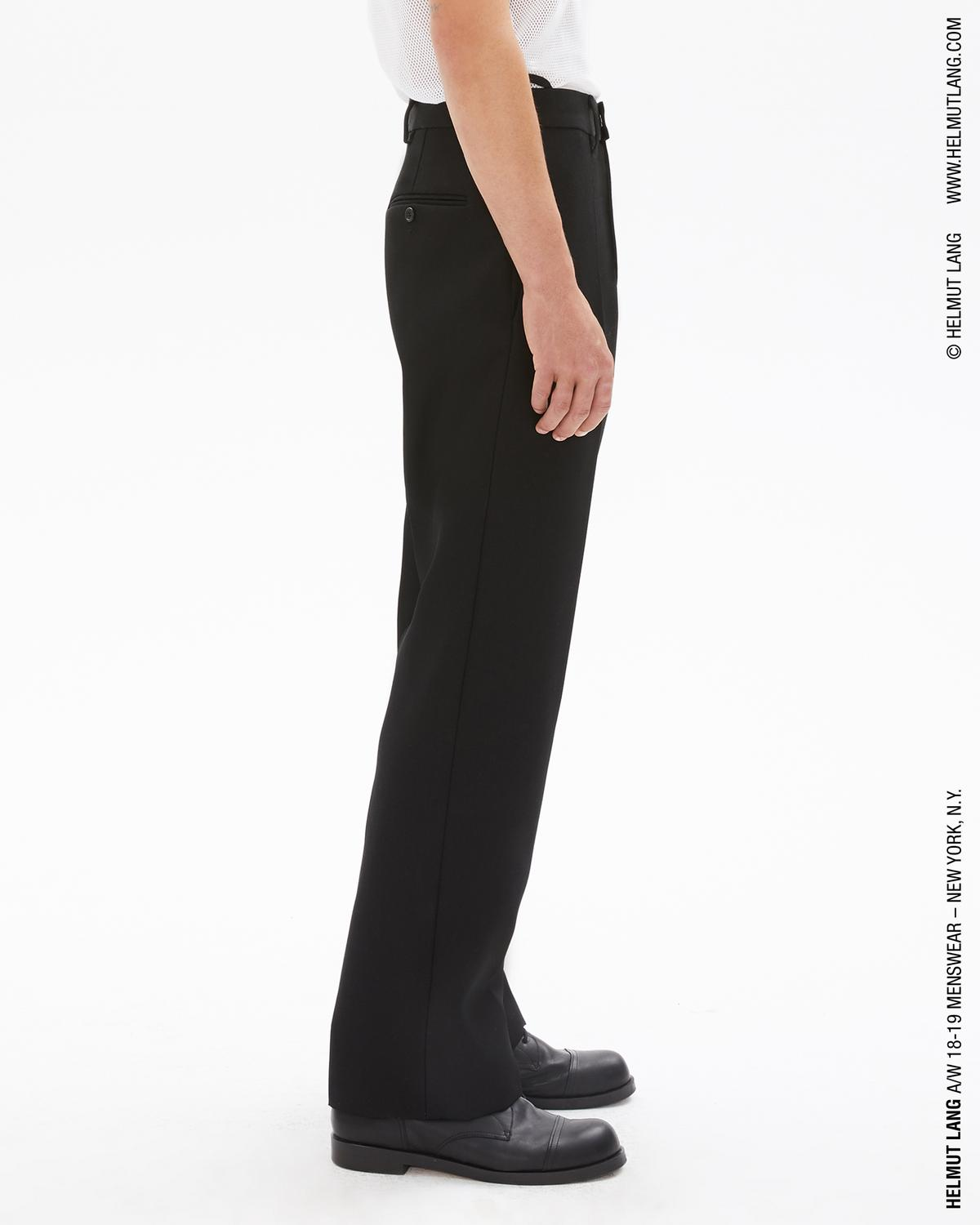 WIDE LEG WOOL TWILL TROUSER