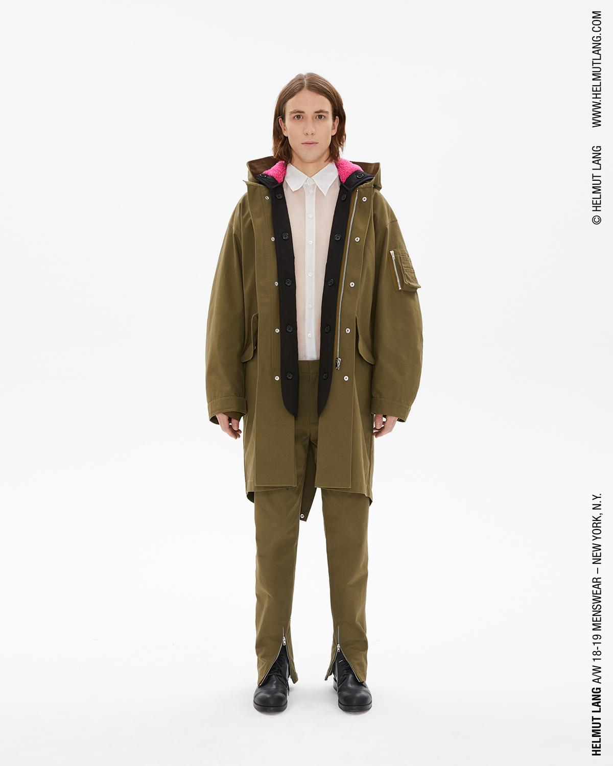 RIPSTOP FISHTAIL PARKA WITH SHEARLING HOOD
