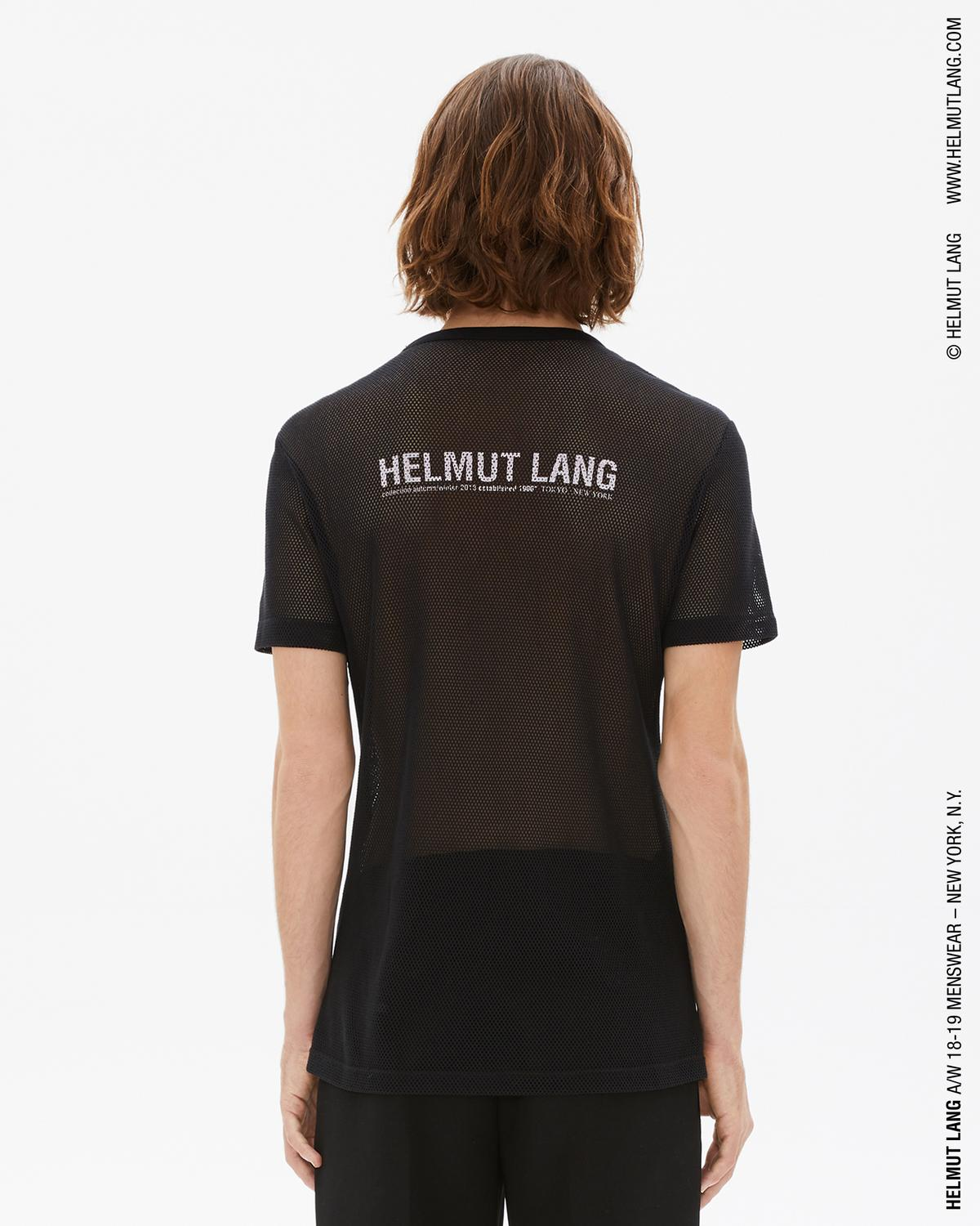 MESH LOGO BACK T-SHIRT