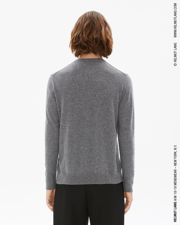 3a40b7a51 Helmut Lang Cashmere Crewneck Sweater in Medium Heather Grey