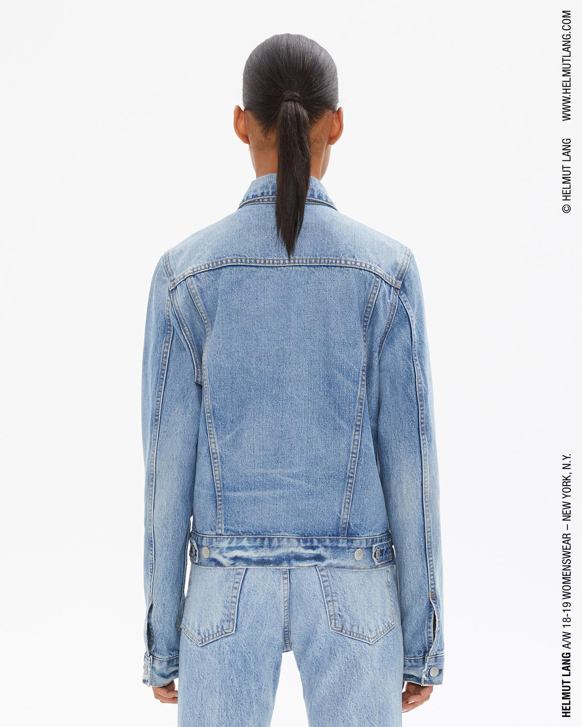 SQUARE SHOULDER DENIM JACKET