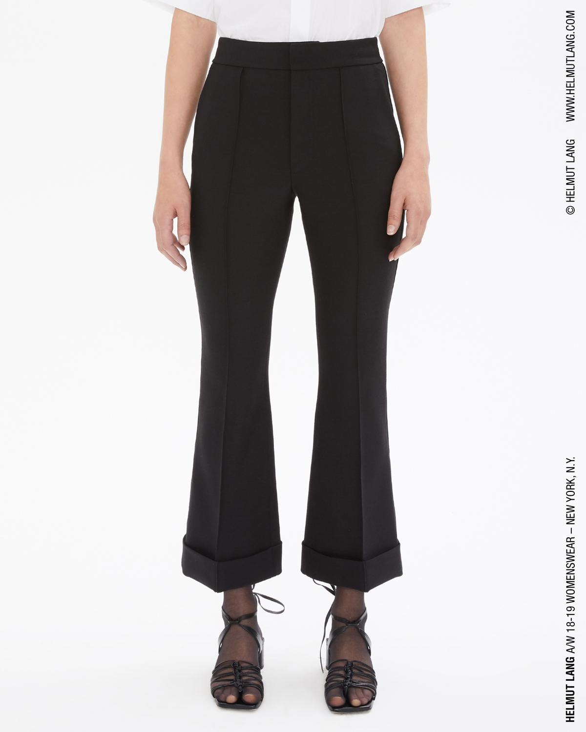 SPONGY WOOL FLARE PANT