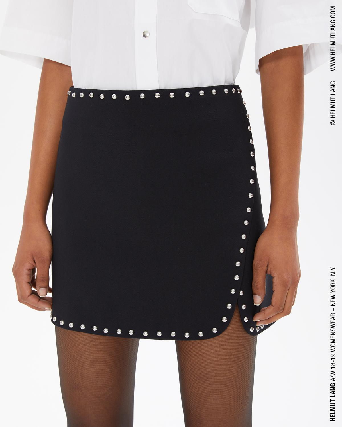 STUDDED MINI SKIRT