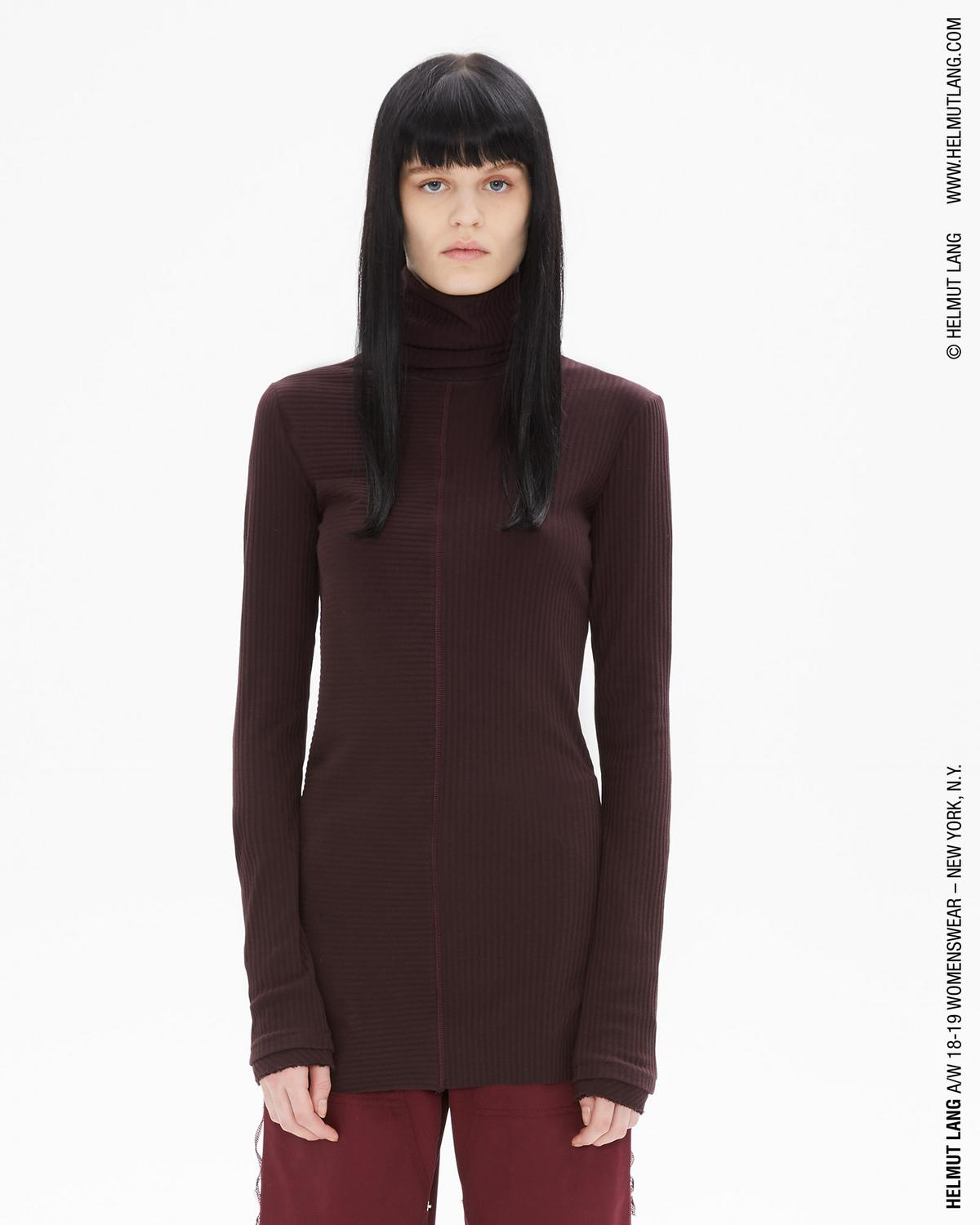 LONGSLEEVE RIB TURTLENECK