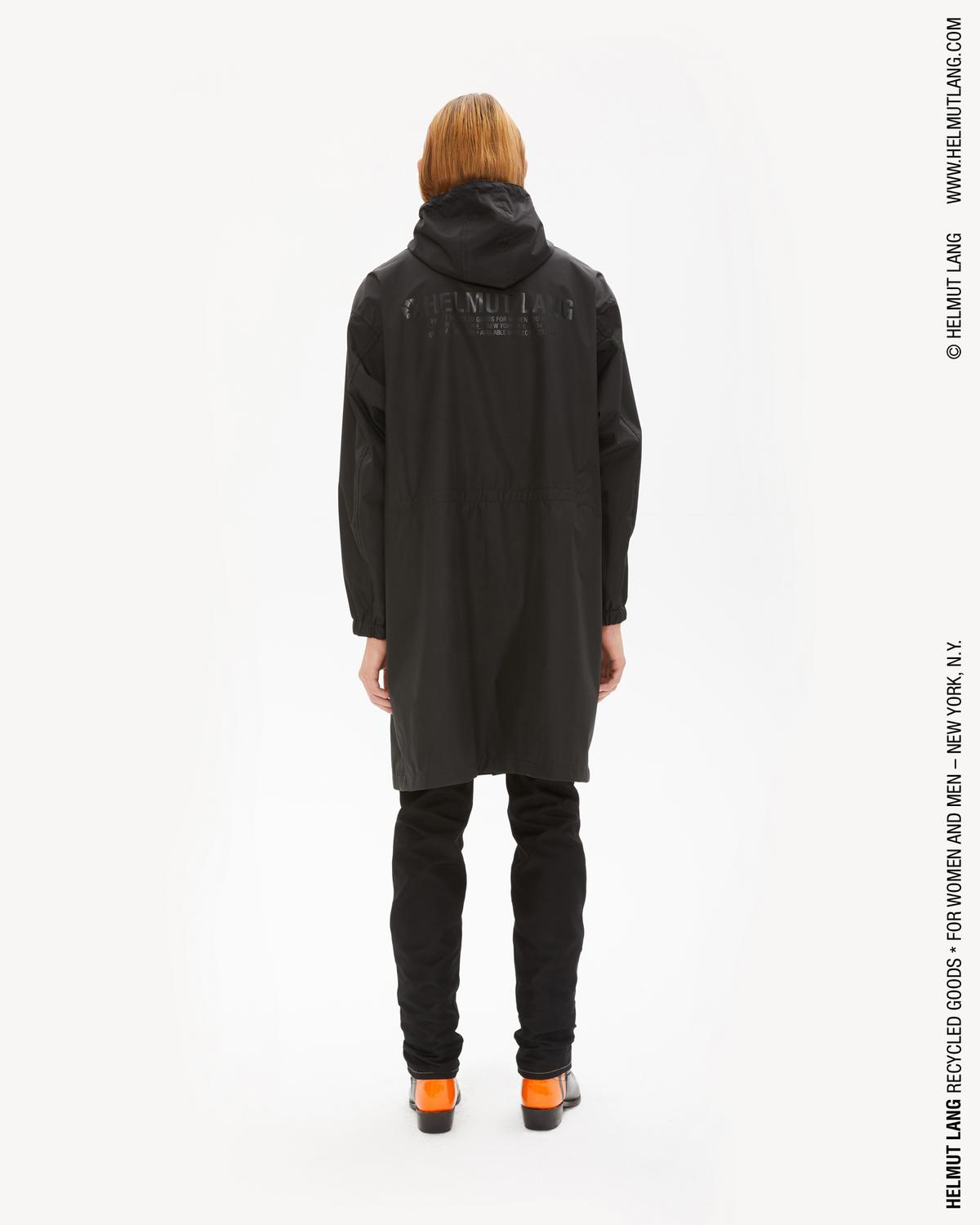 RECYCLED NYLON HOODED RAINCOAT