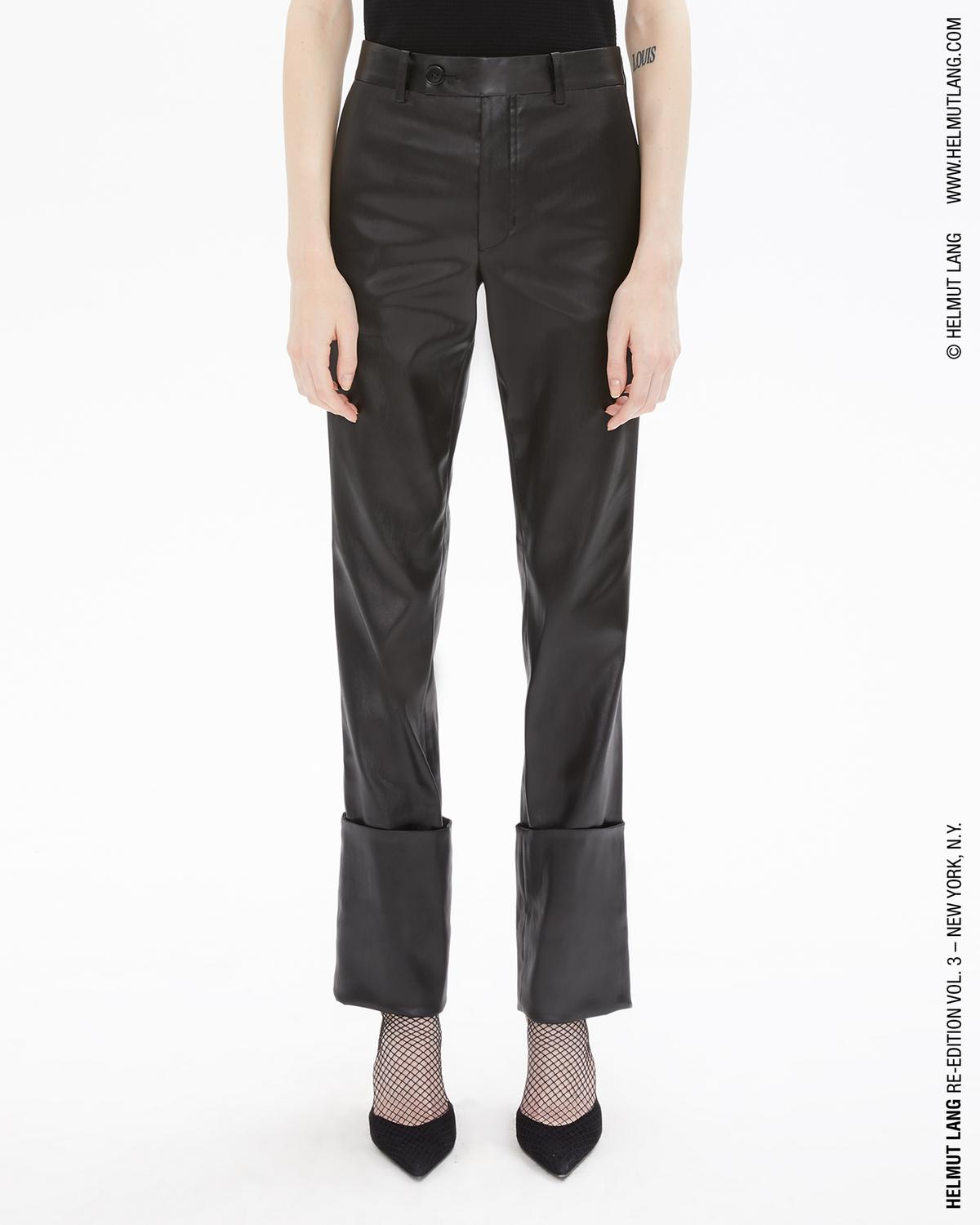 LACQUERED ACETATE EXTREME TURN UP TROUSER