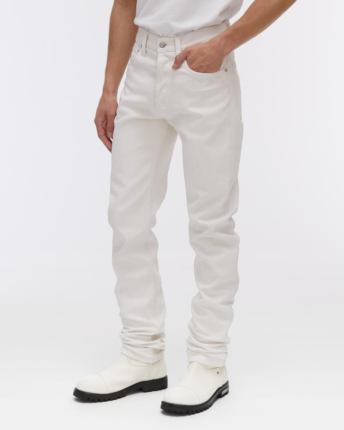 Masc Hi Straight Jeans In White