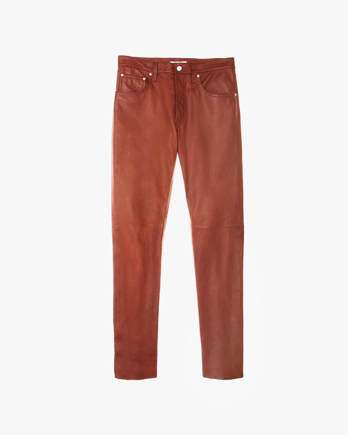 Raw Leather Masc Hi Straight Pants