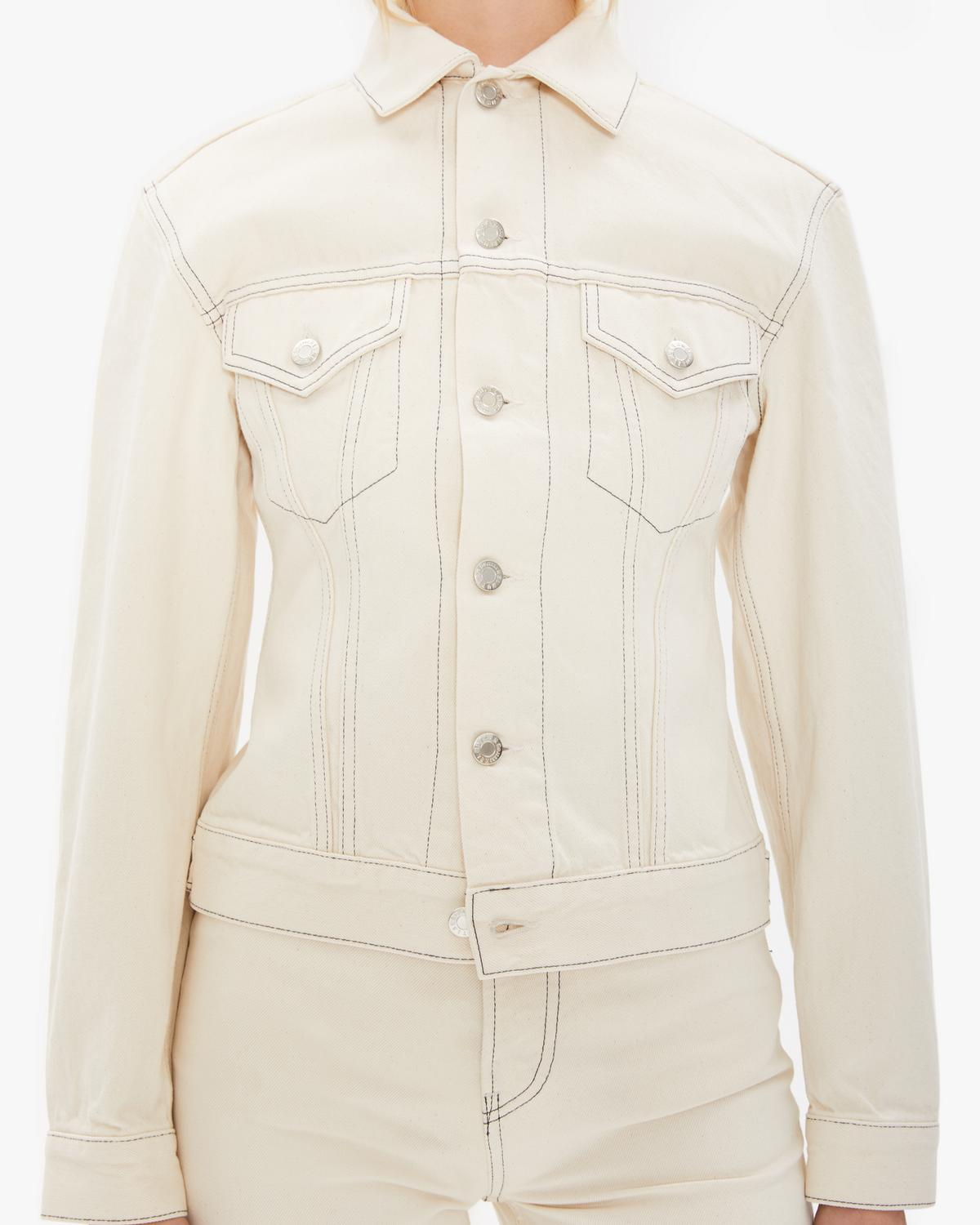 Femme Trucker Jean Jacket In Natural