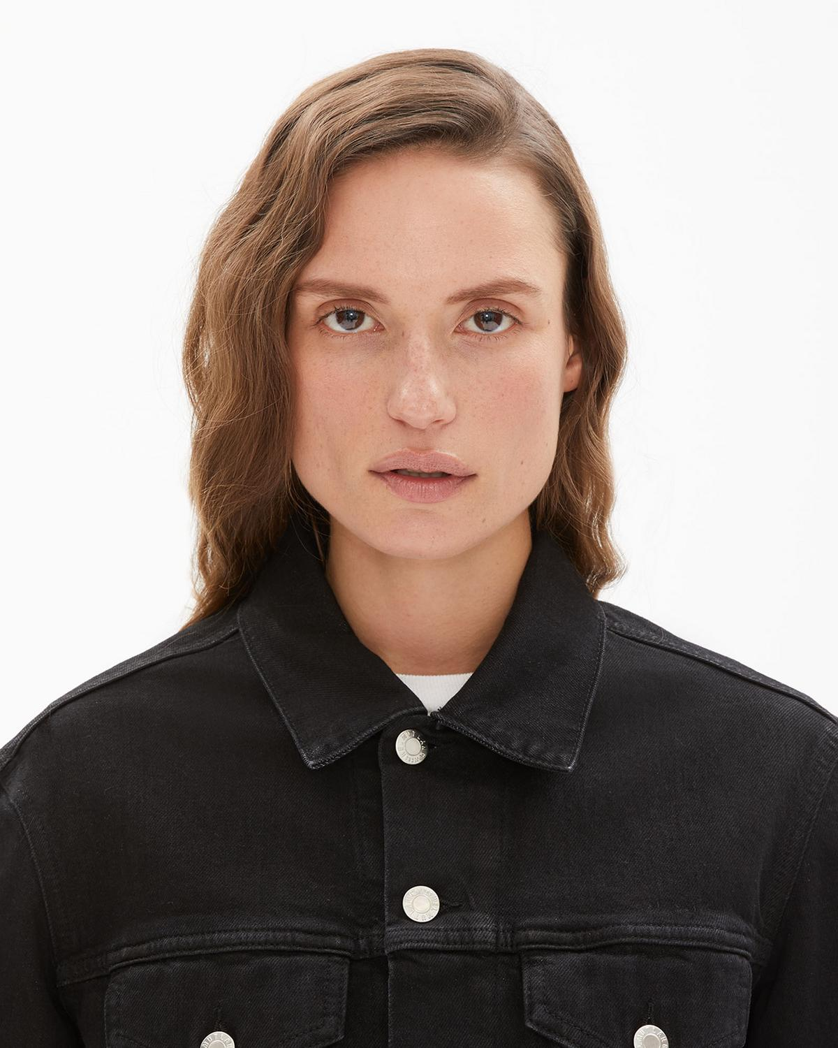 Masc Trucker Denim Jacket in Black