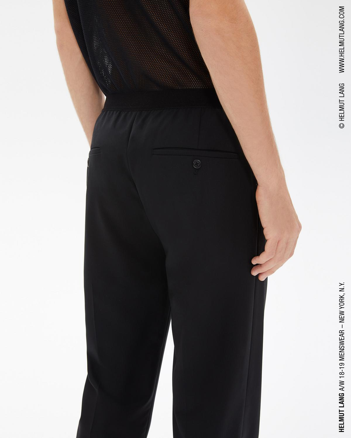 ELASTIC WAISTBAND WOOL TROUSER