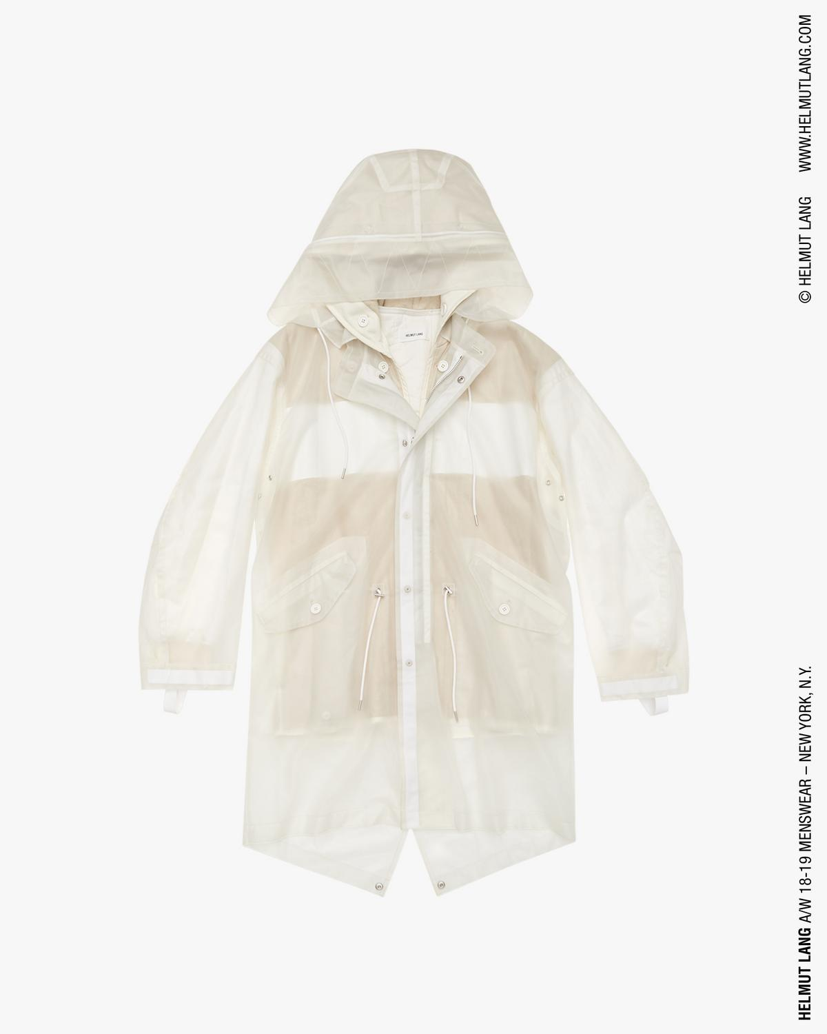 TRANSPARENT FISHTAIL PARKA
